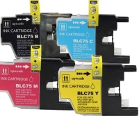 Brother LC75 Combo 4-Pack (Black, Cyan, Magenta, Yellow)